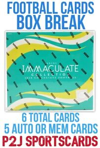 2020 IMMACULATE COLLEGE FOOTBALL CARD HOBBY Box BREAK 1 RANDOM TEAM Break 4155
