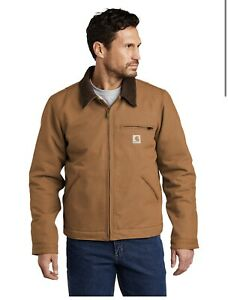 Carhartt Duck Detroit Jacket Brown Size Men's Medium New With tags Free shipping