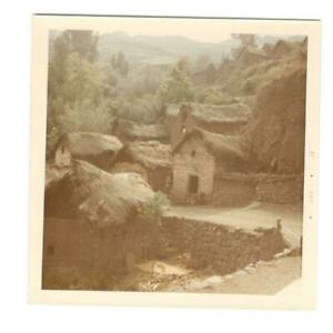 Vintage Photo Indian Town Near Pisac Peru 1960#x27;s DST85