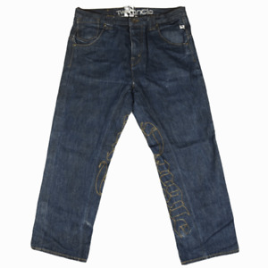TWO ANGLE Mens Jeans Size 38 Cotton Button Fly GBP 10.99