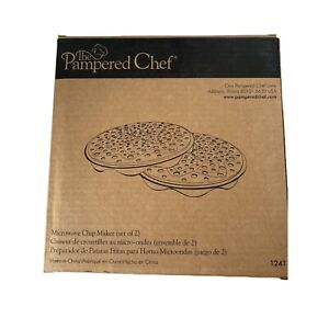 Pampered Chef Microwave Chip Maker Set of 2 New 1241 $16.99