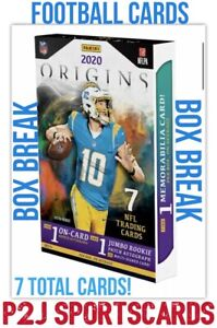 2020 PANINI ORIGINS FOOTBALL CARD HOBBY Box BREAK 1 RANDOM TEAM Break 4182