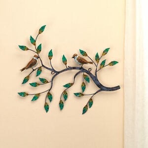 Metal Wall Art Tree Branch Leaves Birds Hanging Art Décor 18quot; x 14 1 2quot; $23.40