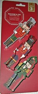 CHRISTMAS COOKIE CUTTERS Set of 3 NUTCRACKERS By Balsam Fir Trading Co. $9.89