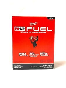 Milwaukee 2555 20 M12 Fuel Stubby 1 2 Impact Wrench Tool Only New $163.00