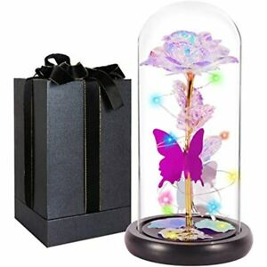 Gifts For Women Galaxy Rose Valentines Day Wife GirlsCrystal Colorful Flowers $51.98
