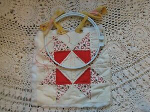 Vintage Quilting Square In Progress * Art Piece??? * One of a Kind $5.00