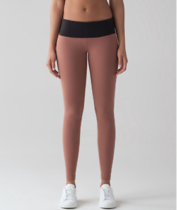 Lululemon Wunder Under Low Rise Tight Size 4 Henna Black $98.00