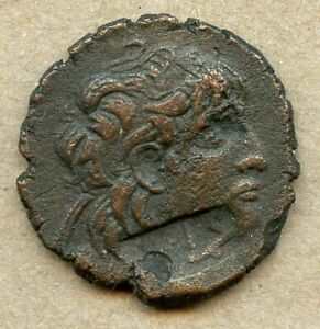 Ancient Greek Bronze Sea Salvaged Shipwreck Coin 29mm with Two Counterstamps $24.95