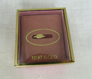 10k Gold Vintage Tiny Letter A Baby Childs Heart Ring sz .1 2 $22.95