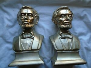 Vintage Abe Lincoln Bookends #1538 $124.99