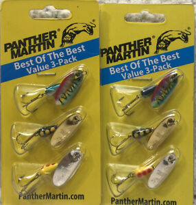 2 Panther Martin 1 8oz Best Of The Best Spinner 3 Pack 6 Spinners Total 191