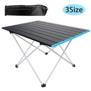 Outdoor Portable Folding Aluminum Table Lightweight Camping Picnic Desk with Bag