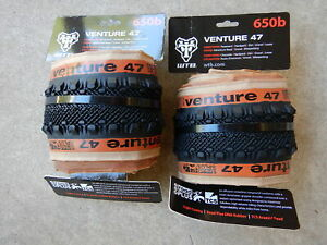 PAIR OF WTB VENTURE 650B X 47 GRAVEL BIKE TIRES TUBELESS TAN SIDEWALL TCS $99.99