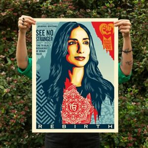 OBEY Shepard Fairey Rebirth Print Signed and Numbered 450 not KAWS $275.00
