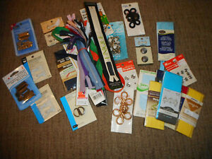 Mixed Lot of Sewing Supplies Zippers Snaps Trim and More $15.00