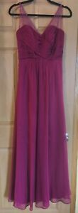 Ladies Designer Evening dress gown from BELSOIE size 6 deep red burgundy EUC