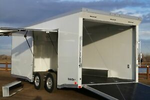 IN STOCK ATC Raven 8.5 X 20 Enclosed Aluminum Car Hauler Trailer w Escape Door