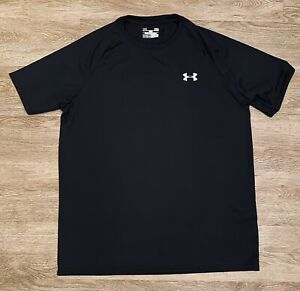 Under Armour Heat Gear Mens Shirt Gym Running NWOT Black Size M Loose Fit $14.99