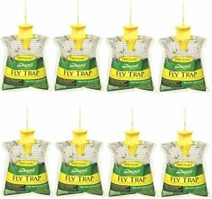 RESCUE Outdoor Disposable Hanging Fly Trap – 8 Pack