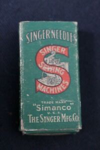 Original Box 100 Singer Sewing Needles 16 x 23 23...OLD NEW STOCK $29.00