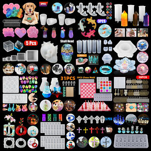 DIY Silicone Resin Casting Mold Keychain Jewelry Pendant Epoxy Craft Mould Tool $7.98
