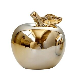 Ceramic Apple Home Decoration Enamel Plant Fruit Model Ornament Modern Statues $43.25