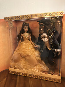 Beauty and The Beast Disney Limited Edition Platinum Doll Set 17 Inch LE 500 $3250.00