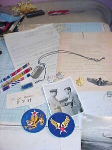 ORIGINAL WWII AVG FLYING TIGERS 23RD FTR GP TRIPLE ACE GROUPING W WINGS DOG TAG $5997.88