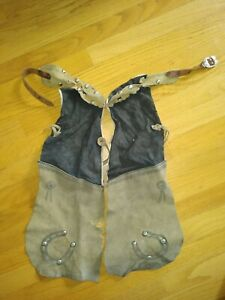 VINTAGE KIDS COWBOY CHAPS ROUGH AND RARE VERY COOL