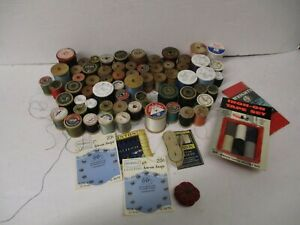 Vintage Sewing Thread amp; Spools For Crafts Sewing Needles Clarks Monarch $19.99