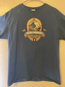 Vintage Large Colorado Mountain Experience Delta Magnum Weight T Shirt Blue $15.00