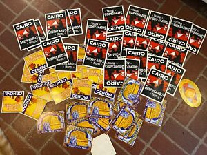 Huge Lot LUGGAGE LABELS TRAVEL ADVERTISING STICKERS HOTEL ANTIQUE REPRODUCTIONS $39.99