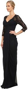 Adriana Papell Lace raglan gown Black Size: 4 $60.00