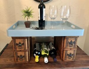 Vintage Sewing Machine Drawers Made Into Coffee Bar Table Top Bar $130.00