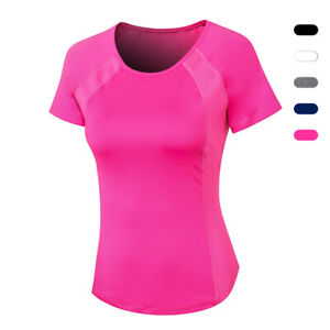 Workout Running T shirts for Women Fitness Athletic Yoga Tops Exercise Gym Shirt $15.99