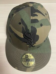 Vtg 59Fifty New Era Chicago White Sox Camo Hat Cap Size 7 3 4 Camouflage Fitted