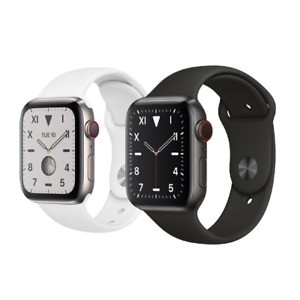 Apple Watch Series 5 Edition 44mm GPS Cellular Titanium Space Black or Silver $339.97