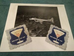 Trans Canada Air Lines Canadair North Star amp; Lithograph Drinks Mats 1950s GBP 39.99