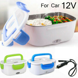 Portable 12V Car Electric Lunch Box Food Bento Warmer Travel Heating Container