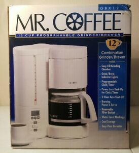 MR. COFFEE GBX12 12 Cup Programmable and Grinder Coffeemaker White 2001