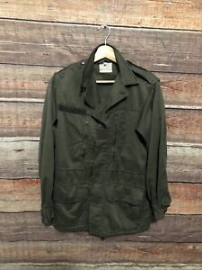 Vintage 1980 French Military Army Jacket Fatigue Uniform Green $33.96