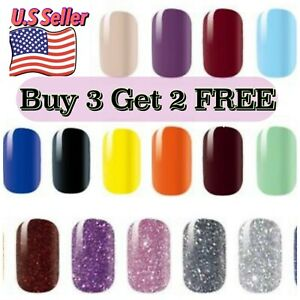 Nail Polish Strips Solid Glitters Nail Wraps Stickers Buy3 Get 2FREE Plain Color $3.49
