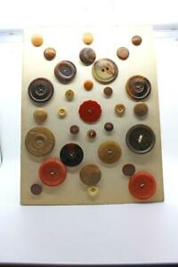 VINTAGE CARDED CELLULOID amp; HORN SEWING BUTTONS $40.00