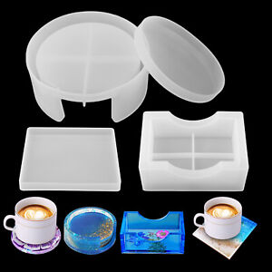 Silicone Resin Casting Mold Coaster Epoxy Mould DIY Craft Tray Mat Tool Holder $10.98