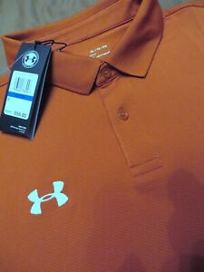 Under Armour Polo Shirt XL Copper Loose Fit ****NWT $26.50