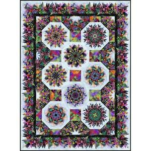 Urban Jungle One Fabric Kaleidoscope Quilt Pattern by In The Beginning Fabrics