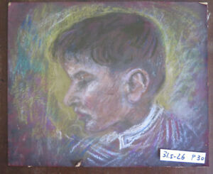 Painting Antique On Board Portrait Child 1960 About Modena Emilia Romagna P30 $103.86