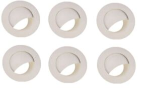 6 PACK RECESSED LIGHTING METAL WALL WASHER TRIM 6 IN. WHITE 617746