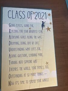 Inspiring Class of 2021 Graduation Card foil enhancements Retails for $5.29